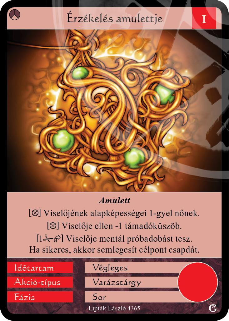 érzékelés amulettje