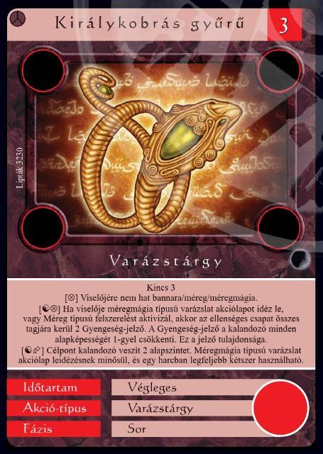 királykobrás gyűrű