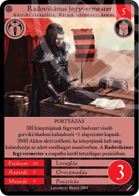 Radovikánus fegyvermester