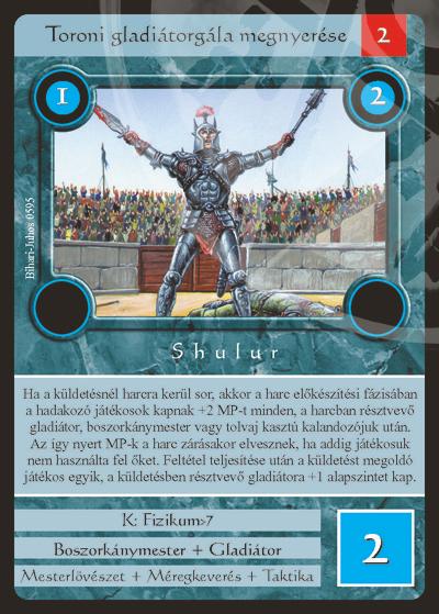 Toroni gladiátorgála megnyerése